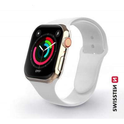 Swissten Apple Watch szilikon szíj, 38-40 mm - Fehér