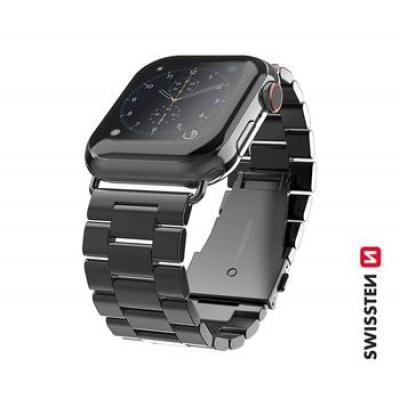 Swissten Apple Watch fém szíj, 42-44 mm - Fekete