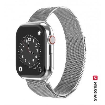 Swissten Apple Watch milánói szíj, 38-40 mm - Ezüst
