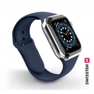 Swissten Apple Watch szilikon szíj, 38-40 mm - Navy Blue