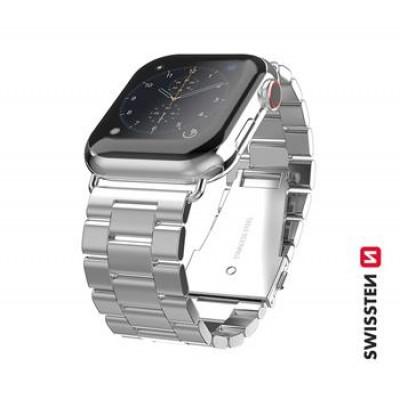 Swissten Apple Watch fém szíj, 42-44 mm - Ezüst