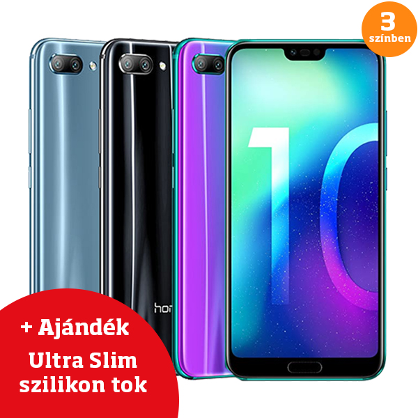 Honor 10 Dual Sim 64GB Fekete