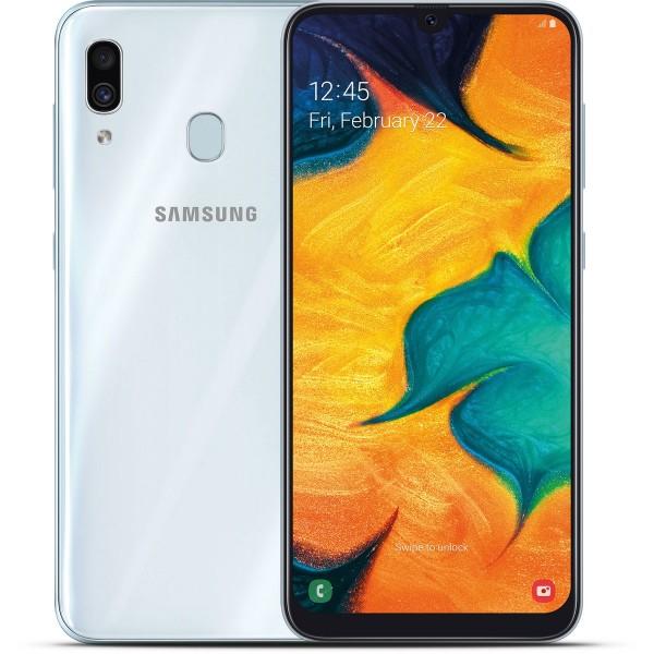 Samsung Galaxy A30 Dual Sim A305F 64GB 4GB RAM - Fehér