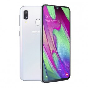 Samsung Galaxy A40 Dual Sim 64GB 4GB RAM - Fehér