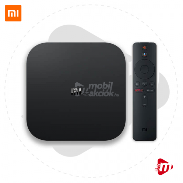 Xiaomi Mi Box S Android TV 4K HDMI Smart Set-Top Box - Médialejátszó