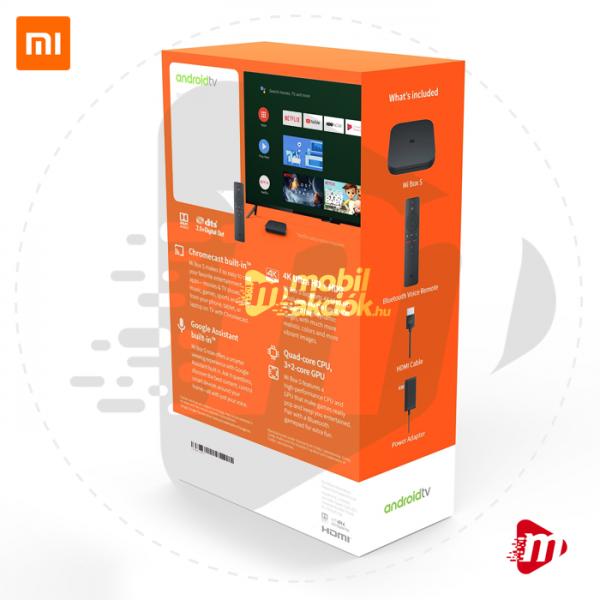Xiaomi Mi Box S Android TV 4K HDMI Smart Set-Top Box - Médialejátszó