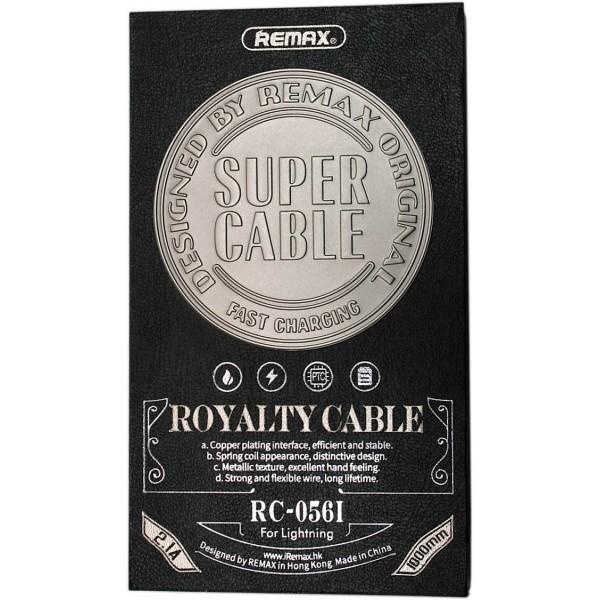 Royalty iPhone 5-6-7 adat/töltőkábel RC-056i Remax - Fekete