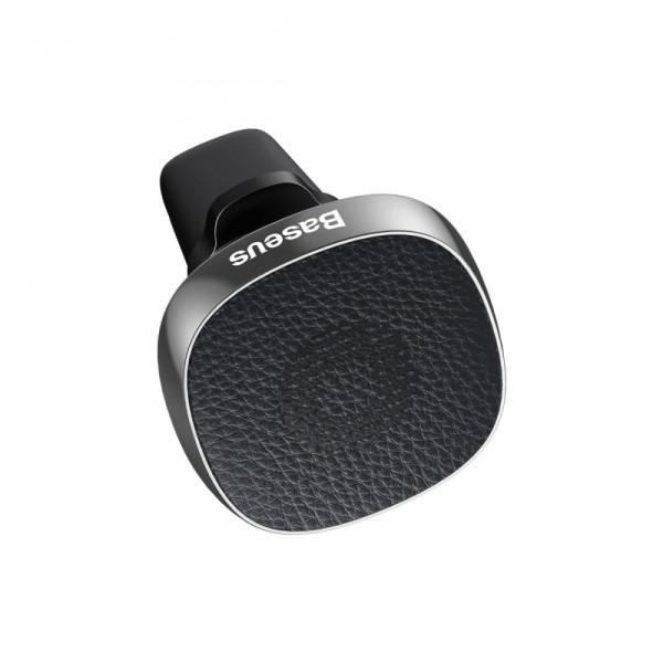 Baseus Privity valódi bőr mágneses autós telefontartó szellőzőrácsra - Ezüst