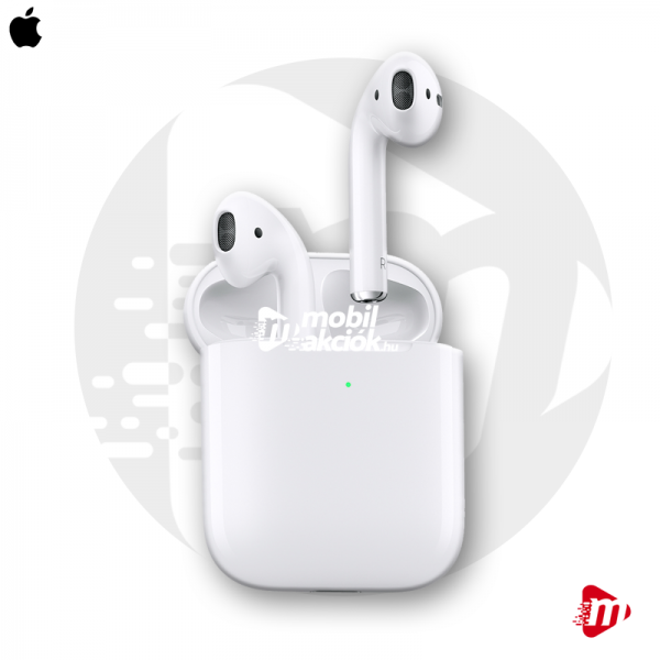 Apple AirPods (2. generáció) eredeti gyári sztereó bluetooth headset + töltőtok - fehér