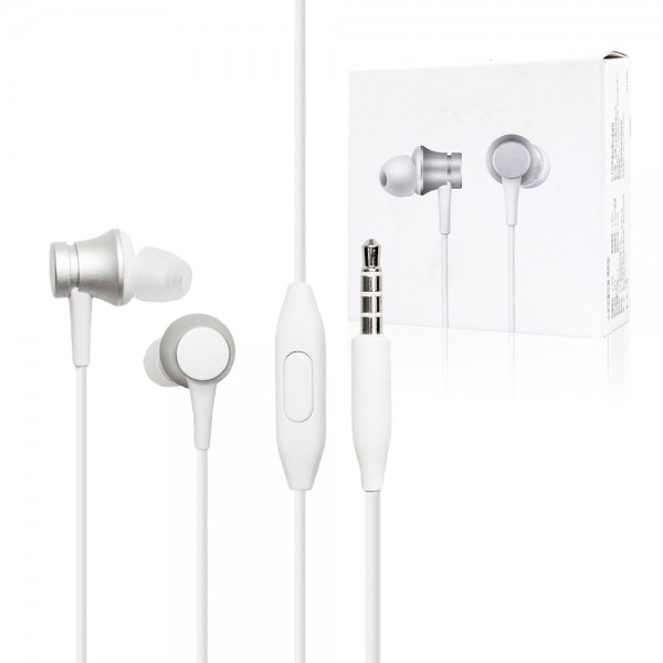 Xiaomi Mi In-Ear Basic gyári fülhallgató 3,5 vezetékes - Ezüst