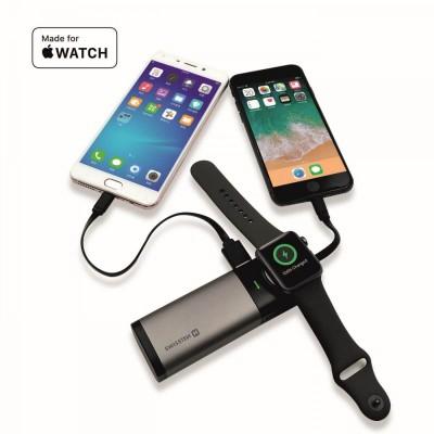 Swissten 2in1 MFI Apple Watch & iPhone power bank 6700 mAh