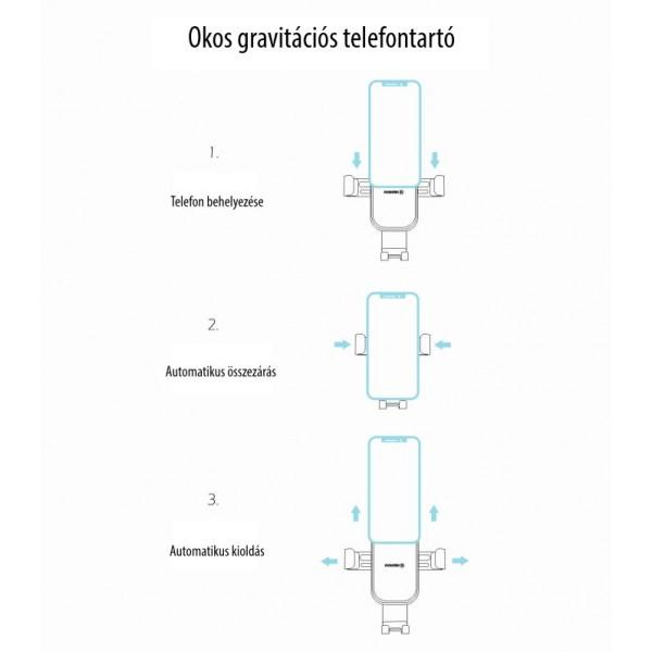 Swissten Gravitációs autós tartó szellőzőrácsra, G1-AV3