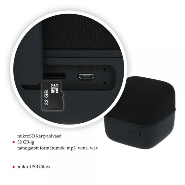 Swissten Music cube TWS hangszóró fekete