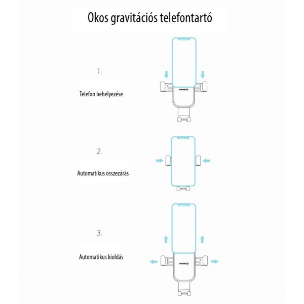 Swissten gravitációs autós tartó műszerfalra, G1-R1
