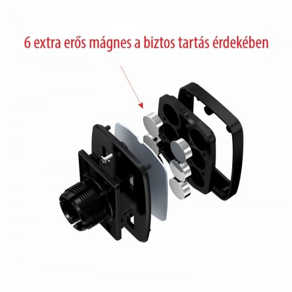 Swissten mágneses autós tablet- és telefontartó műszerfalra, M5-R1