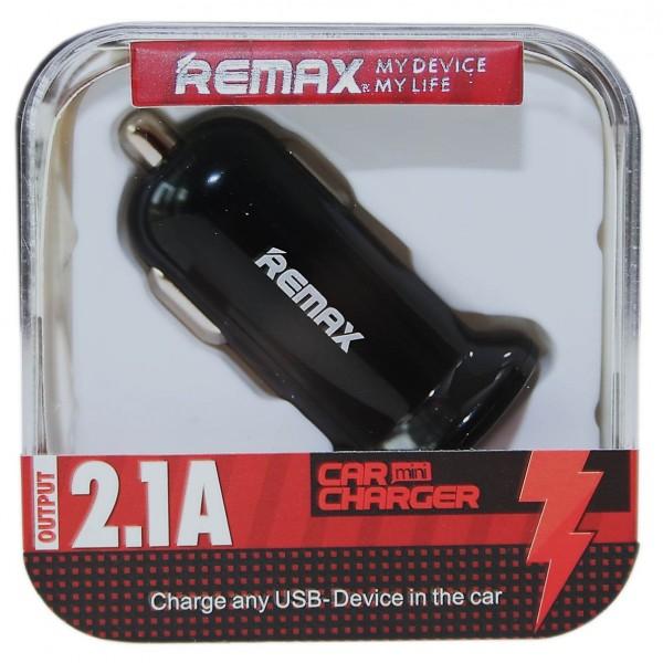 Remax autós töltő 2xUSB 2.1A fekete