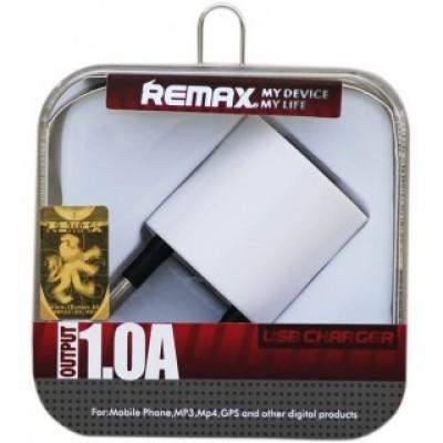Remax hálózati töltő USB 1A fehér